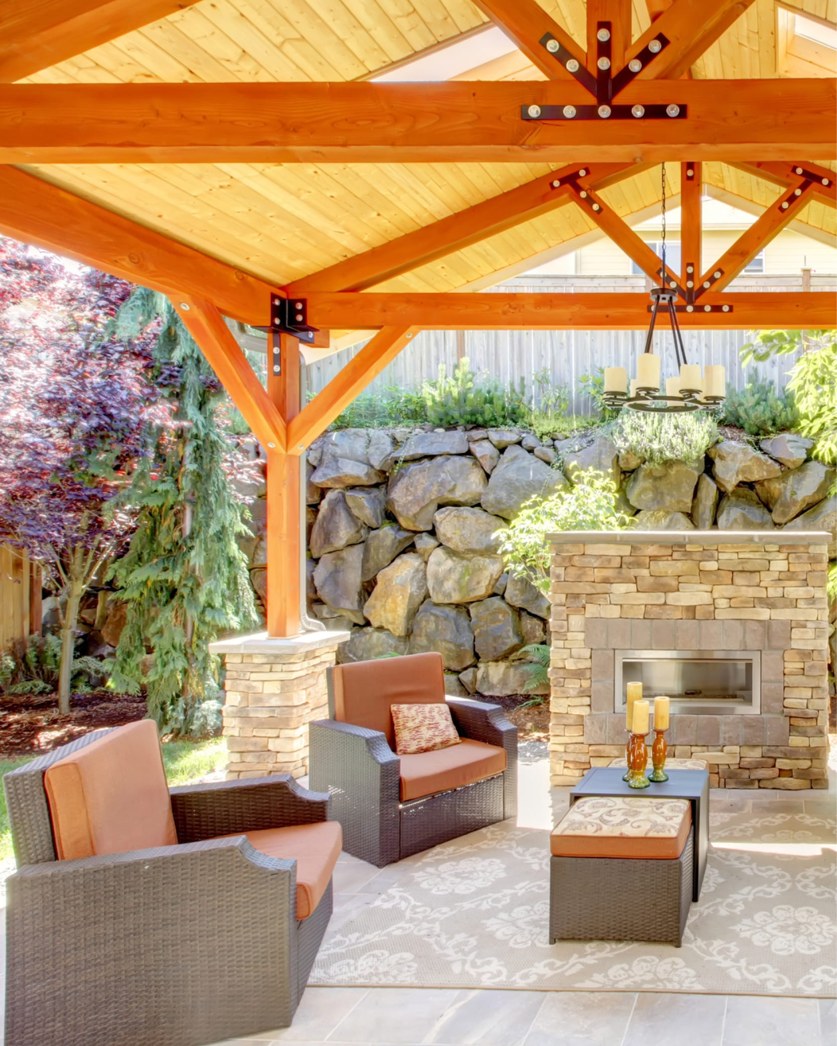 Natural Wood Porches, Patios, and Decks: Beautiful Outdoor ... on Landscaping And Patios  id=62635