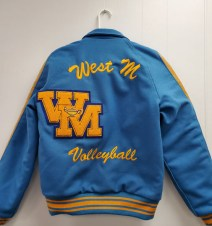 """Embroidered 3"""" Script """"WEST M"""" with Embroidered 2"""" Script Sport"""