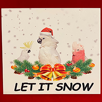 10 pack Cockatoo Christmas cards