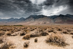 desert dark clouds