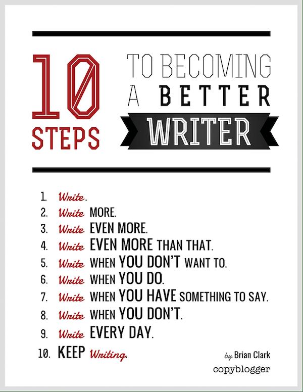 10 steps better writing