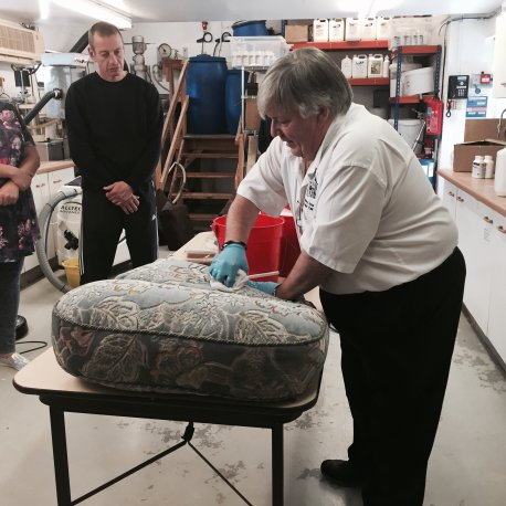 Hands on Upholstery Cleaning 8