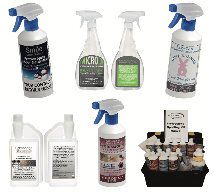 Own label spotter alltec network carpet cleaning upholstery cleaning hard floor cleaning chemicals