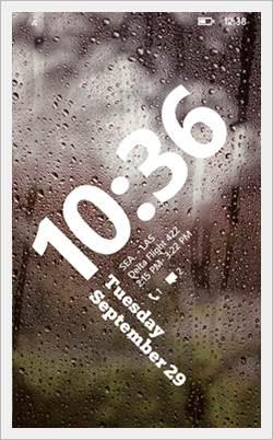 windows phone 8.1 lockscreen