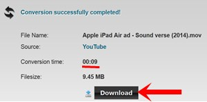 convert youtube videos using online video converter - Clipconverter.cc - converted video