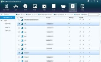 Mobikin assistant for android pc suite - contacts