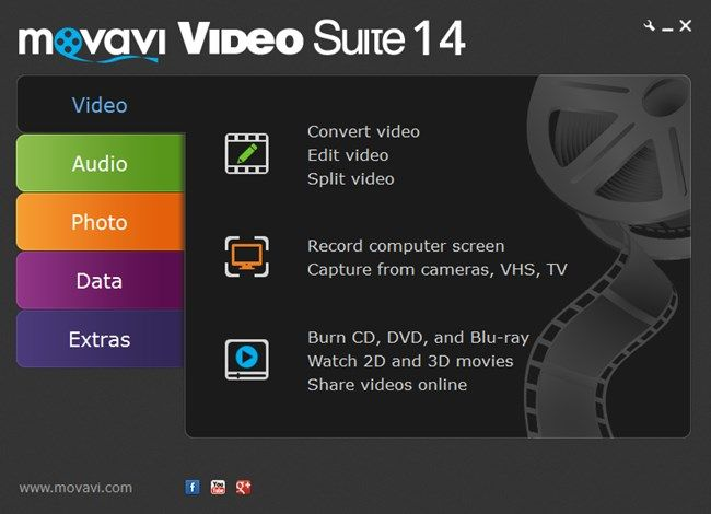 Movavi Video Suite Review - User Interface