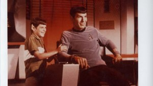 Kid vulcan and spock on the bridge