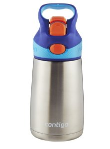 Contigo Autospout Striker Flip Chill Stainless Steel Kids Water Bottle, 10-Ounce