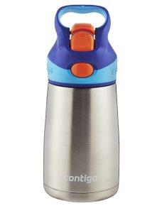 Contigo Autospout Striker Flip Chill Stainless Steel Kids Water Bottle, 10-Ounce