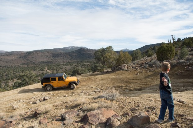 Exploring the Virginia Range by Jeep. Photo by David Calvert