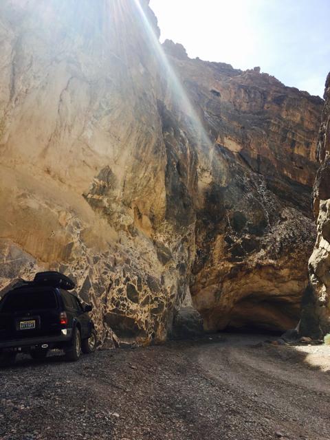 Titus Canyon narrow