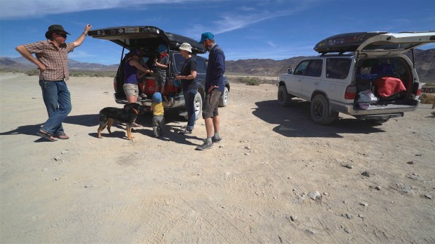 Family at Racetrack Playa