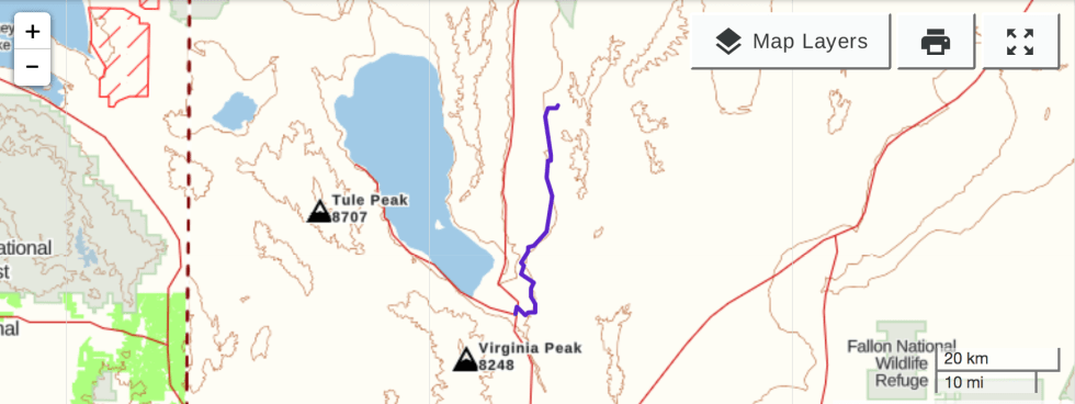 Schoolbus Canyon GPS Track