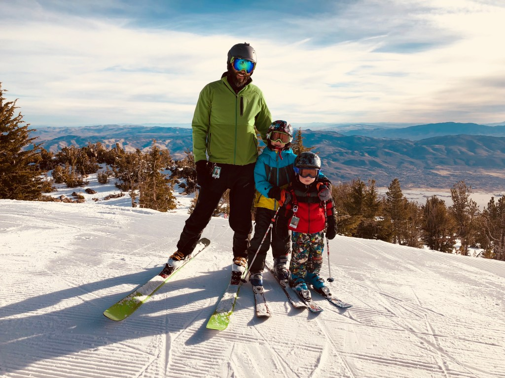 Family Ski day on top of Mt. Rose