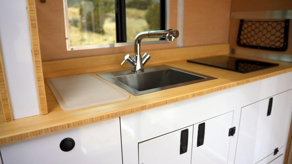 Expedition camper interior: kitchen