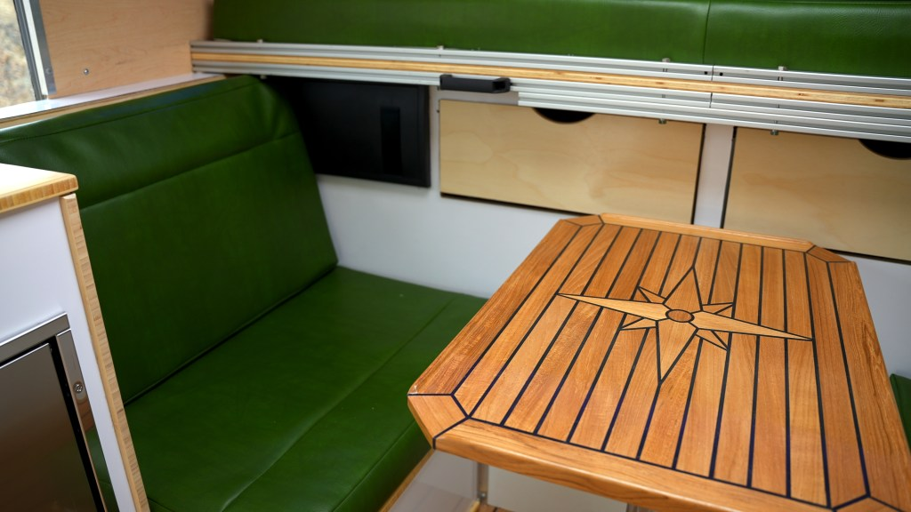 Expedition vehicle interior Dinette