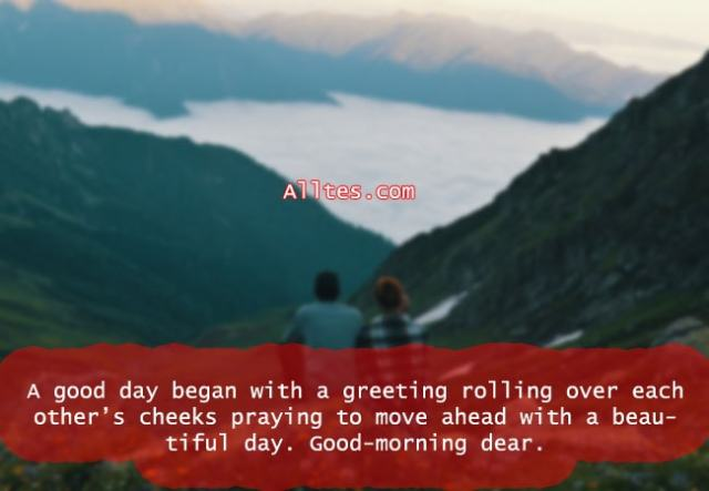 A good day began with a greeting rolling over