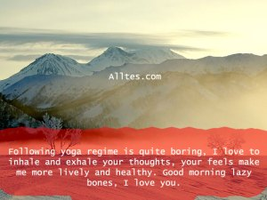 Following yoga regime is quite boring