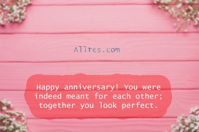 Happy anniversary! You were indeed meant for each other.