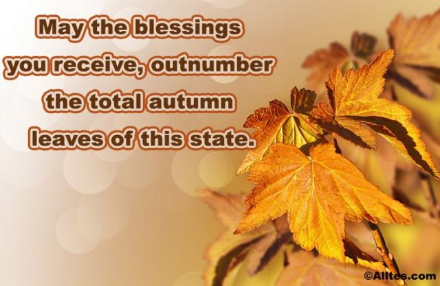 may the blessings you receive