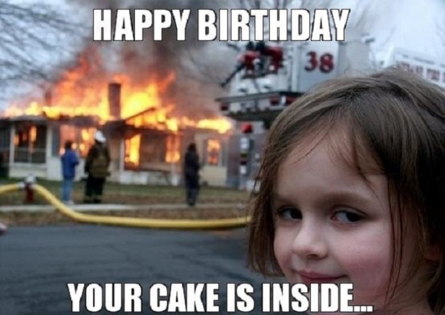 happy birthday cake is inside
