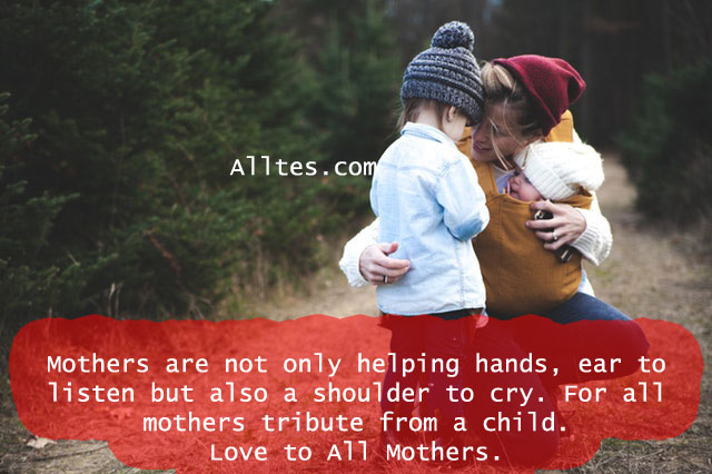 mothers are not only helping hands,