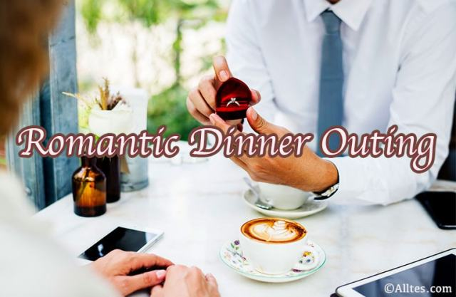 romantic dinner outing