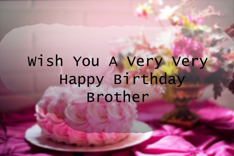 wish you a very very happy birthday brother