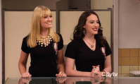 """Favorite BFF's (C): Caroline and Max - 2 Broke Girls. """"Girl power!"""", is what the 10-year-old-Spice-Girls-fan-part of me would say. Some cool girly duos this year were Chloe and June from Apt. 23, Ava and Raegan from Up All Night, Blair and Dorota from Gossip Girl and Max and Caroline from 2 Broke Girls. The last two are pretty good at calling each other out, which makes their friendship even more fun to watch. Secretly I'm a bigger fan of the male-female-friendships in my series though. Because I'm weird like that. Can I choose Carrie and """"Rachel Maddow"""" maybe?"""