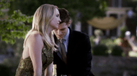 Favorite ship (M): Klaroline (Caroline and Klaus) - The Vampire Diaries. In season three we learned that evil hybrid Klaus fancies kick-ass vampire Caroline. He even started to act like a gentleman around her: giving her a bracelet, making romantic drawings, buying her a beautiful blue dress and giving her the chance to choose between death and a vampire life instead of forcing her to do what he wants. I think everyone hated Klaus at first (who wouldn't?!), but when he is around Caroline he opens up. You probably even envy Caroline a little, because he promised to show her the beauty of the world if she chooses to be with him. I have the feeling that Caroline doesn't realize yet that she is develop some feelings for another hybrid besides her current off-and-on boyfriend Tyler. Let's hope we see Klaroline share a tiny kiss in the second half of the fourth season, because Caroline kissing Klaus in Tyler's body doesn't count!