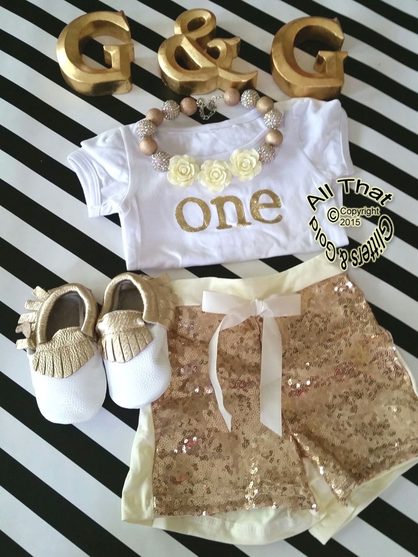 Cute Gold Birthday Outfits 1st Year Birthday Black Gold
