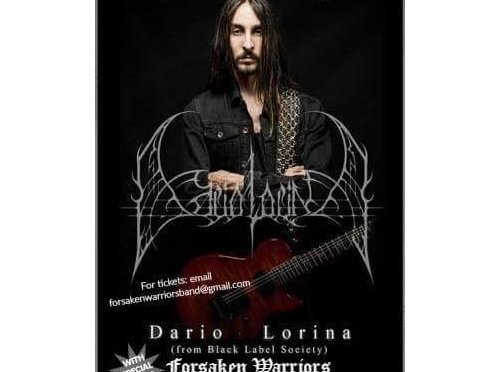 Black Label Society's Dario Lorina To Headline At The Whisky A Go Go June 30th