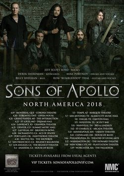 "Sons Of Apollo Releases Video For ""Alive""; More U.S. Shows Added"