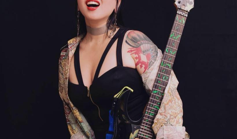 Cyndi Zhang Shredding Her Ibanez On Instagram