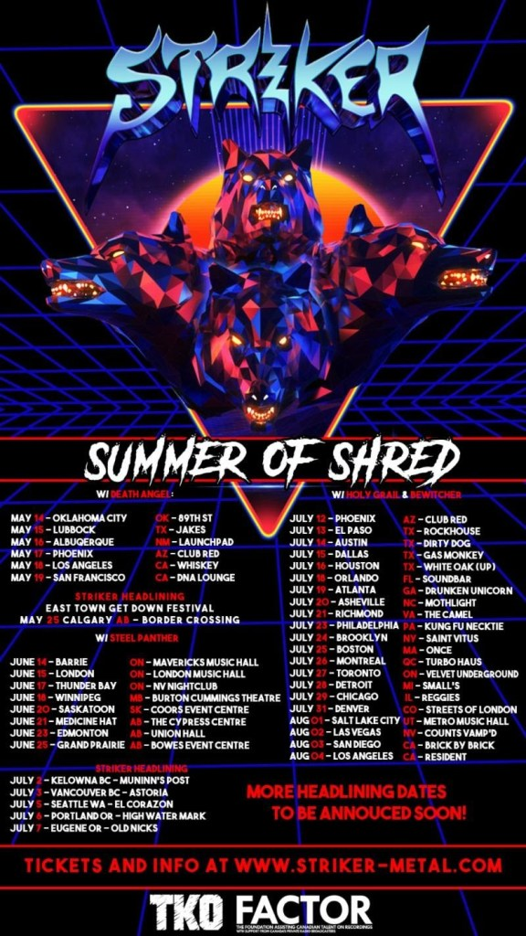 Striker Announces Their 'Summer of Shred' w/ North American Tour Dates 