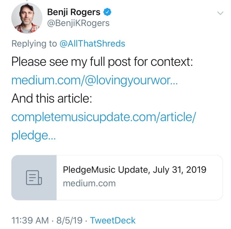 Sources Confirm Active Federal Investigation Into Pledgemusic, Benji Rogers & Other Executives