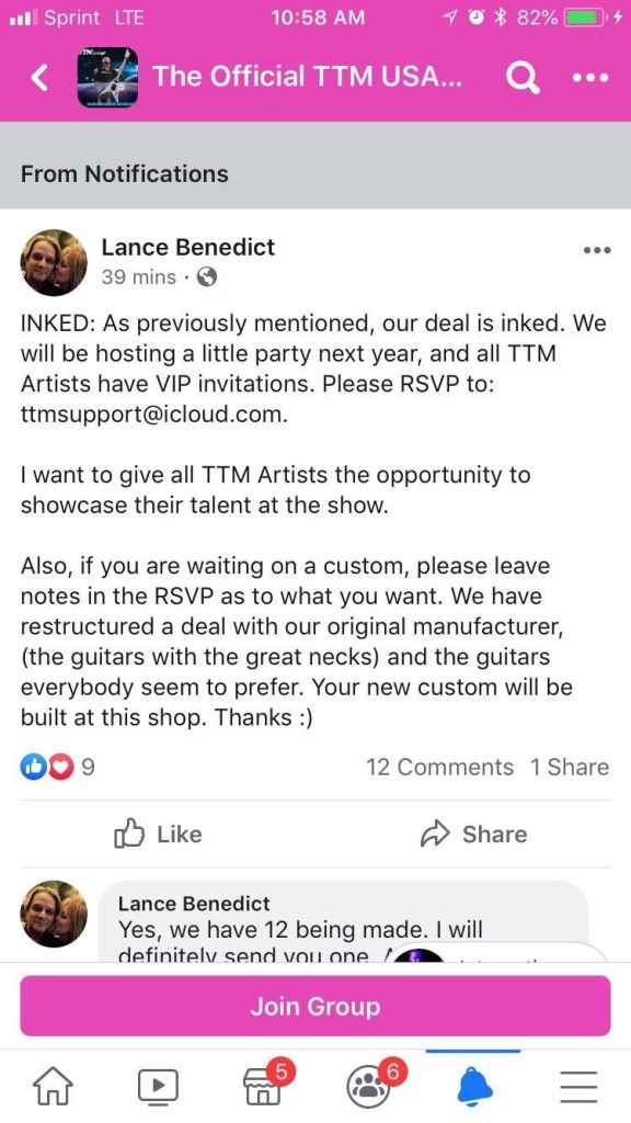 TTM Guitars Franchisees Are Learning They've Been Scammed By Lance Benedict