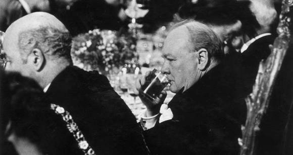 Image result for winston churchill drinking