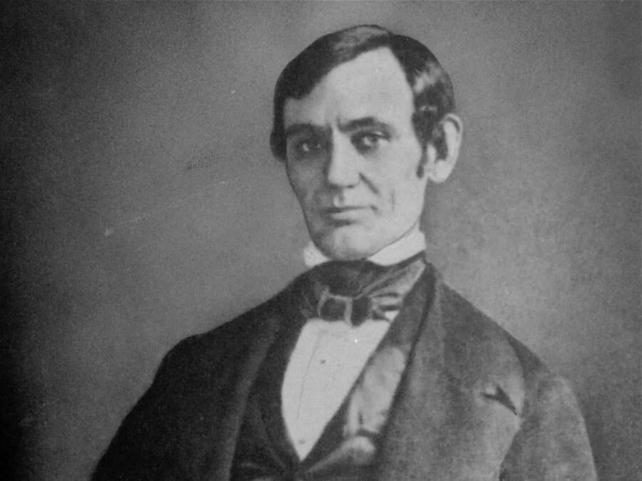 Beardless Abraham Lincoln Portrait