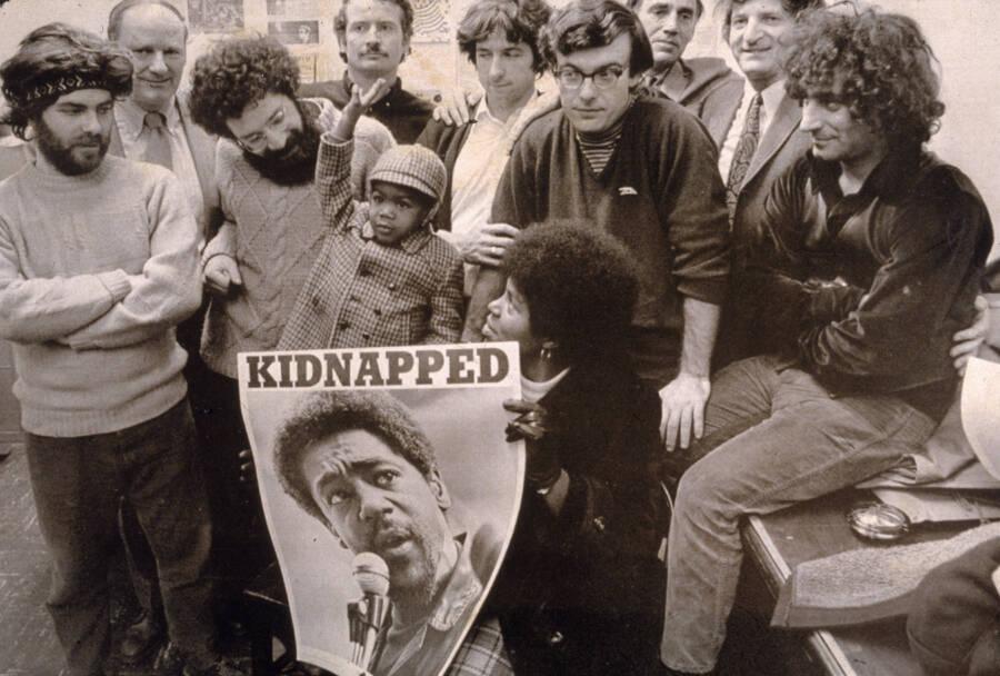 Chicago Seven Holding Bobby Seale Poster