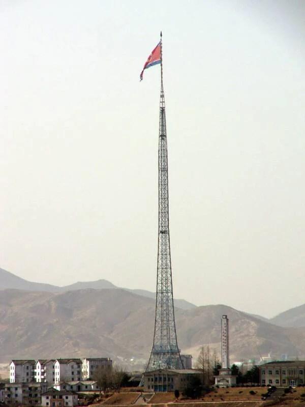 Kijong Dong Flagpole