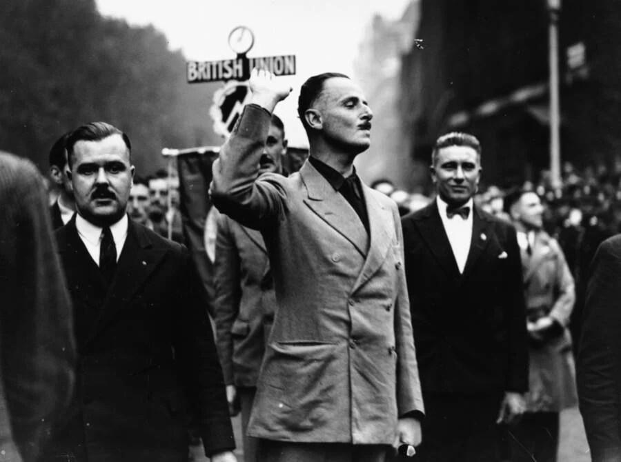 Oswald Mosley Waving