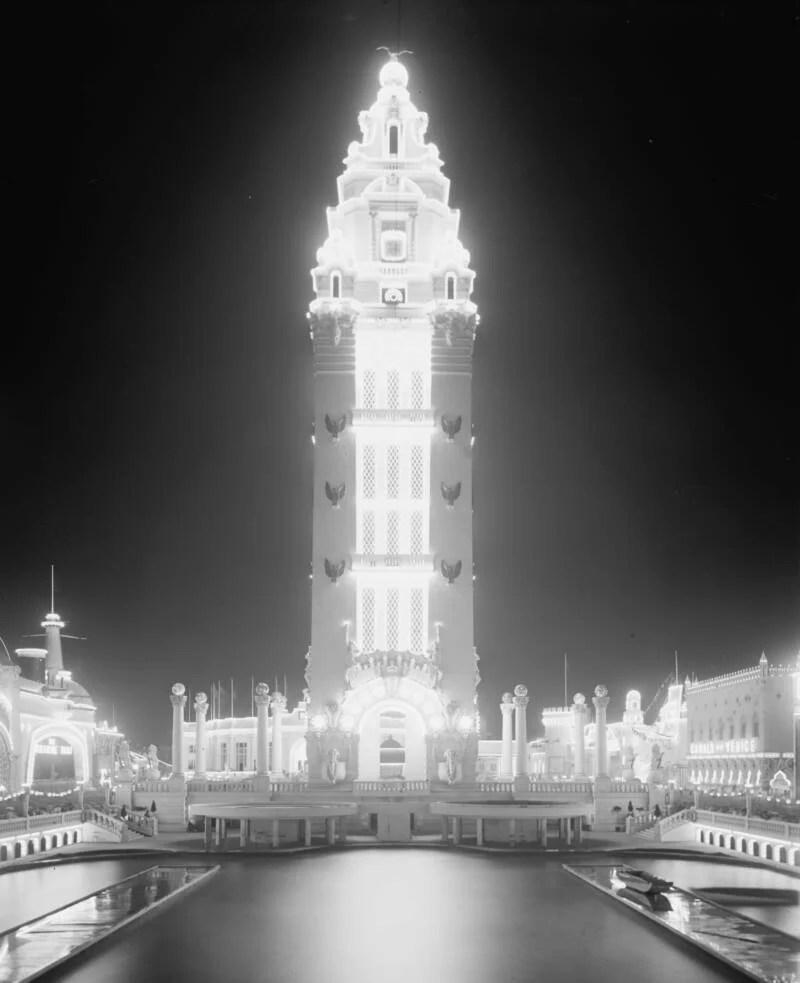 Dreamland Tower At Night