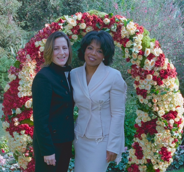 Libby Moore and Oprah Winfrey