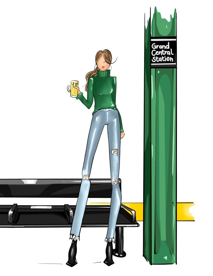 All the Best Moments, St. Patrick's Day fashion illustration