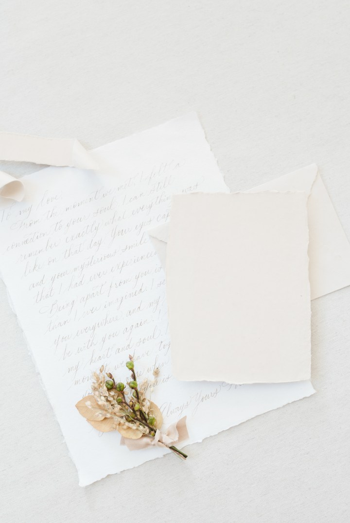 Bridesmaid's Guide, handwritten letter to the bride