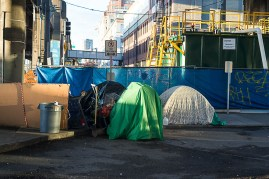 Homeless tents in Seattle