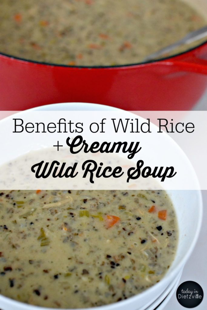 Benefits of Wild Rice + Creamy Wild Rice Soup | I may have had wild rice three times before moving to northeastern Minnesota. Wild rice is native to where I live in Minnesota -- so it's EVERYWHERE. You can even buy wild rice in gas stations! We quickly learned that wild rice is a thing up here, and if we were going to live up here, we had to figure out how to cook it. Specifically creamy wild rice soup. | AllTheNourishingThings.com