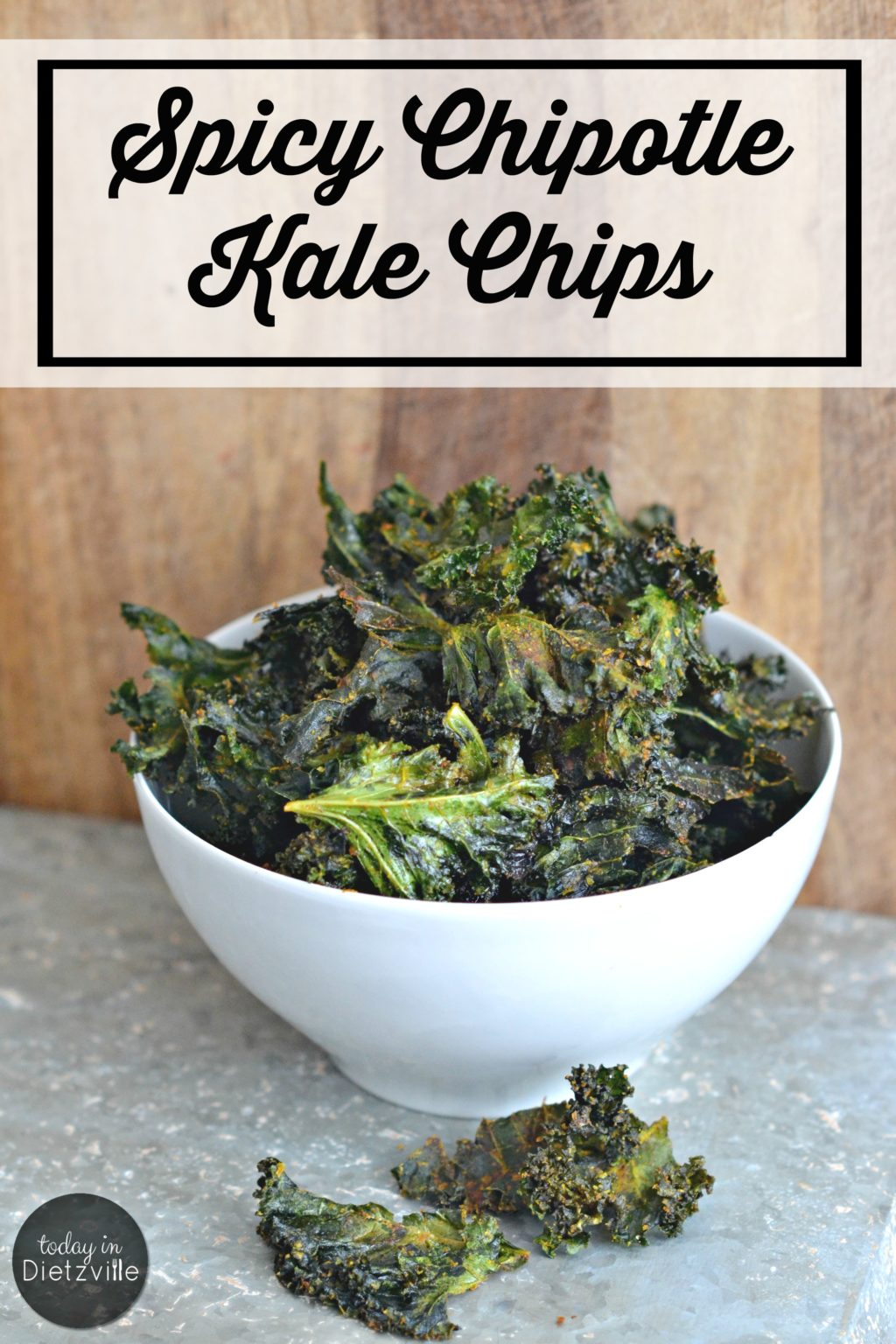 Spicy Chipotle Kale Chips | Ever seen preteens scarf down an entire bunch of kale? One minute, the kale's sitting there, all leafy and dark green; and the next minute, it's just gone. These kale chips will allow you to perform the miracle of preteens eating their greens with delight! | AllTheNourishingThings.com